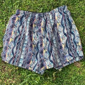 VTG SPEEDO MULTICOLORED SWIM SHORTS SZ M